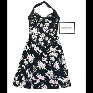 H & M Floral Print Halter Top Dress
